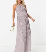 TFNC Maternity - Brudepiger - Plisseret slå-om-maxikjole i grå