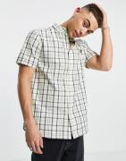 Lyle & Scott - Ternet kortærmet skjorte-Neutral