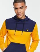 Lyle & Scott - Sport - Hættetrøje med farveblokke i tech-fleece-Grå
