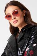 NA-KD Accessories Metal Frame Cat Eye Sunglasses - Red