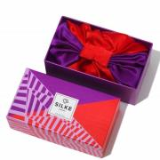 SILKE Hair Wrap The Dita - lilla og rød