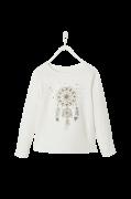 Langærmet trøje med motiv foran