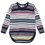 GAP Multi-Stripe Hi-Lo Sweater Blue Galaxy L (9-10 år)