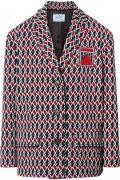 Prada - Argyle Intarsia-knit Jacket - Red