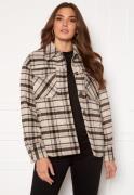 VILA Rubi Check Shirt Jacket Birch Checks 34